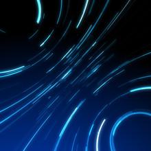 Glitch Glow Lines In Abstraction Background Blue Vortex