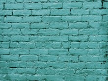 Rough Brick Wall Texture In Turquoise Color