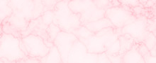 Abstract Pink Color Marble Granite Flooring Panoramic Background.