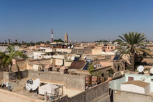View Of The Marrakech Skyline Towards The Koutoubia Mosque