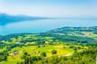 Aerial view of Geneva lake from Mont Pelerin, Switzerland