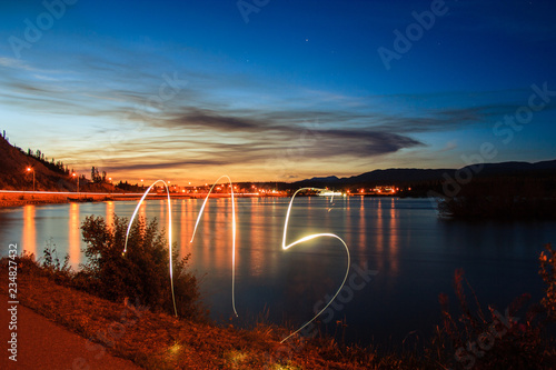 Fotografia  Lightpainting of the 115 number