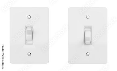 Vászonkép  On and Off switch button. 3d illustration