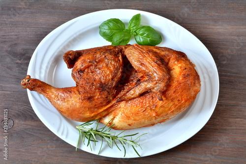 Obraz na plátně połowa kurczaka z rożna