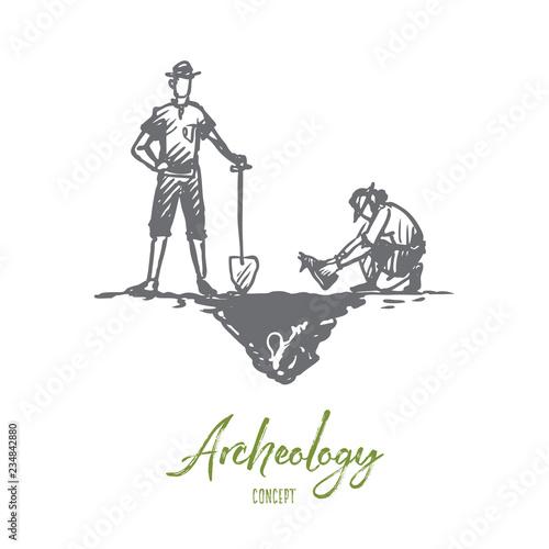 Obraz na płótnie Archeology, ancient, luck, artifacts, fossil concept