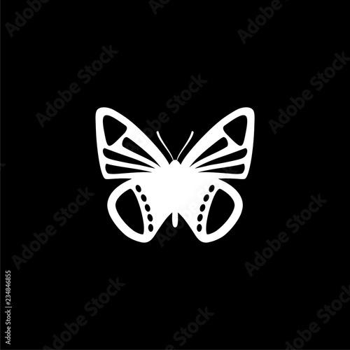 Fototapeta  Butterfly logo isolated on dark background