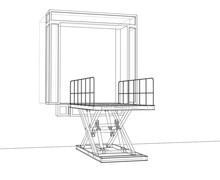 Dock Leveler Concept. Vector