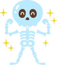 強い骨のキャラクター