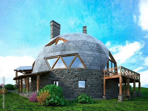 Fotografie, Tablou Gorgeous dome home of the future