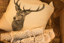 Cushion With A Reindeer Image ...