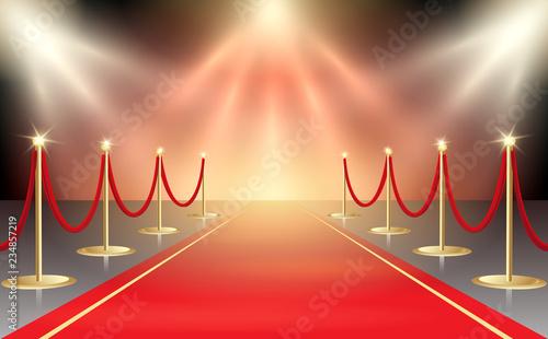 Photo  Red Carpet in Festive Illumination
