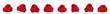 Leinwanddruck Bild - Viele gestrickte Weihnachtsmützen, Nikolausmützen mit Bommel, freigestellt
