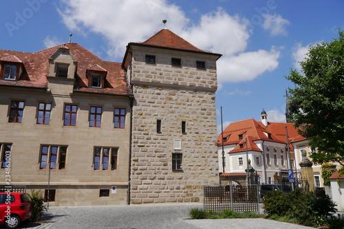 Staande foto Oude gebouw Turm am Kurfürstlichen Schloss in Amberg