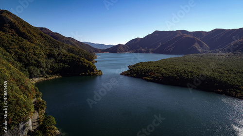 Obraz na płótnie West Lake Aerial Photography of Autumn Photo