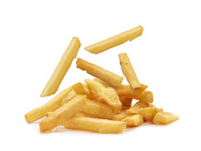 French Fries Isolated. Fast Food