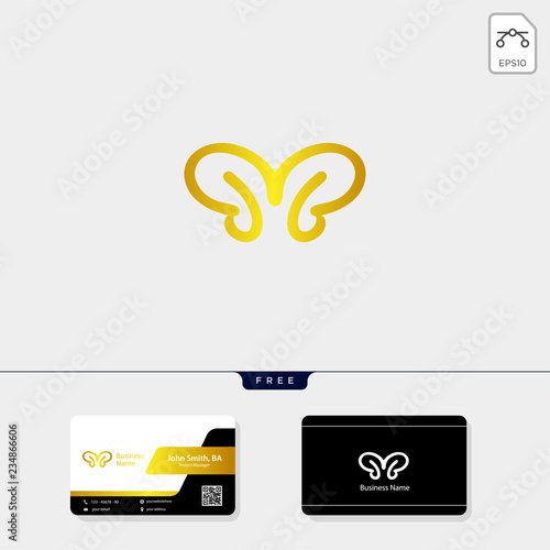 Photo initial B, BB or Bi concept logo template vector illustration, free your busines