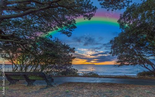 Poster Bordeaux Newquay Beach Sunrise/ Cornualha/ England 10-07-2018
