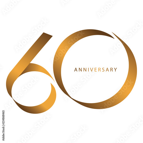 Fotografia  Handwriting, Celebrating, anniversary of number 60th year anniversary, birthday