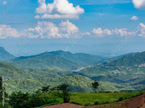 Foto op Plexiglas Blauw view of mountains