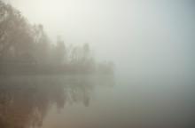 Misty Morning On The Lake. Gaz...