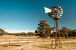 canvas print picture - Old rusty windmill near Barossa valley