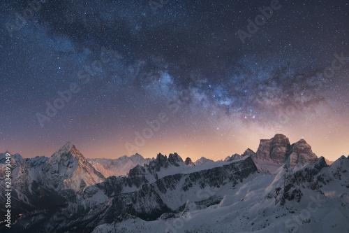 Fototapety, obrazy: La galassia sulle Dolomiti