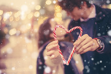 Romantic Couple Holds A Holida...