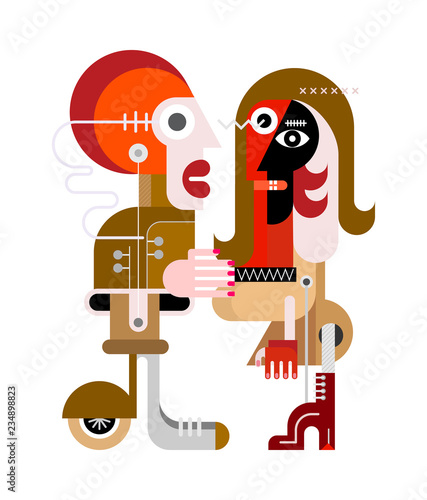 Mechanical People vector illustration