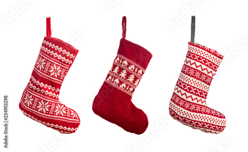 Photographie  Red Christmas stocking
