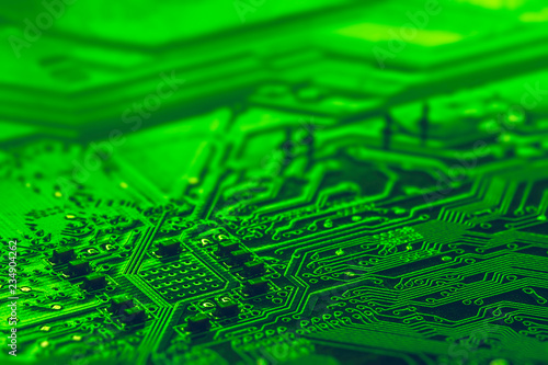 Background image texture of Motherboard digital microchips - 234904262