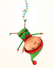 Little Elf Hanging Upside Down...