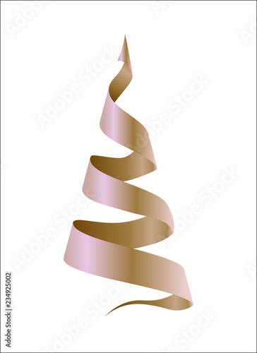 Fototapeta golden design fir-tree obraz