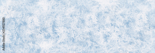 Fotografia Textur blaues Eis, Eisfläche, Winter Hintergrund für Werbeflächen
