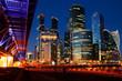 Moscow city in night illumination Photos taken at night, autumn 2018god, skyscraper, sky, lights