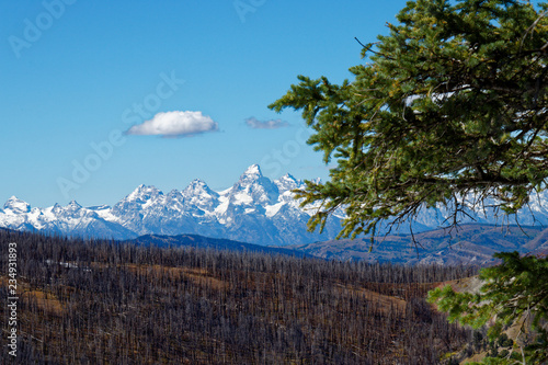 Foto op Plexiglas Blauw Teton Landscape