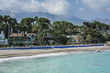 The panoramic view of the coast of Marbella's Golden Mile. Marbella. Andalusia. Costa del Sol.. sapin