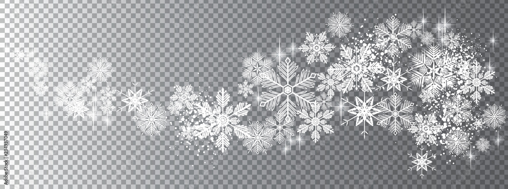 Fototapety, obrazy: Transparent snow wave template