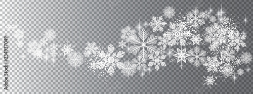 Fotografía  Transparent snow wave template