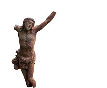 Antique Broken Statue Of Jesus...