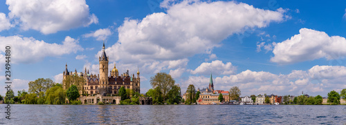 Schwerin castle and inner city panorama