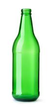 Front View Of Empty Green Beer...