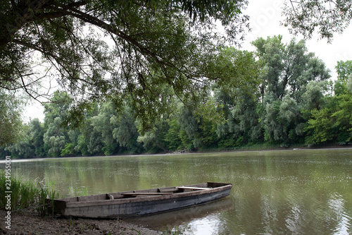 Poster Channel boats on river