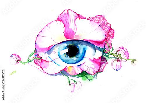 Spoed Foto op Canvas Schilderingen eye