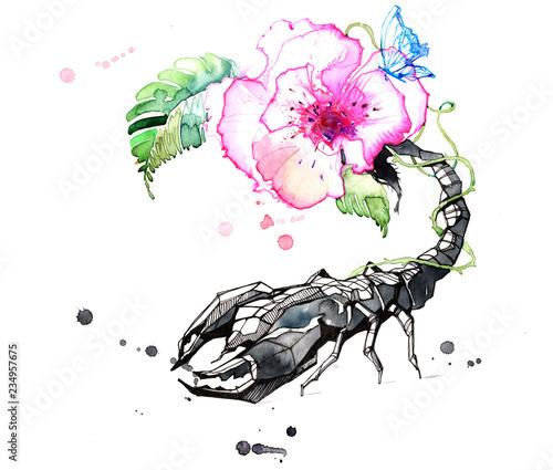 Spoed Foto op Canvas Schilderingen Scorpio