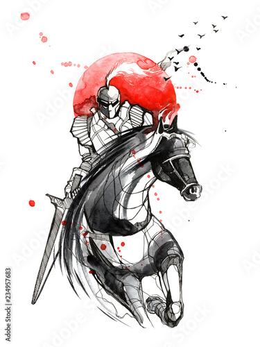 Spoed Foto op Canvas Schilderingen knight
