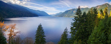 Aerial View Of Lake Crescent I...