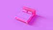 canvas print picture - Pink Bed 3d illustration 3d rendering