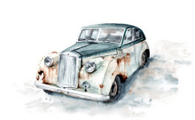 Watercolor Drawing Of A Rusty ...