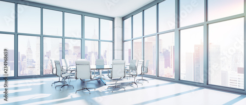 Foto op Plexiglas Stad gebouw Meeting-Room im Hochhaus