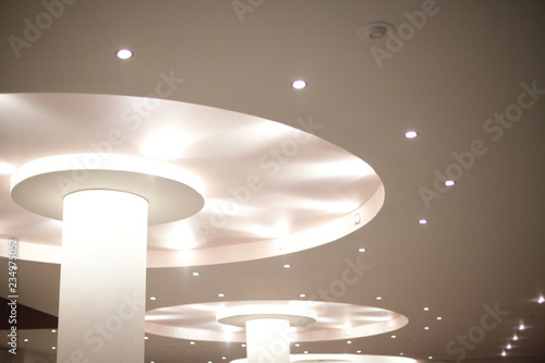 Obraz Beautiful ceiling with LED lighting. - fototapety do salonu